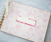 Papiernictvo - Scrapbook album / kniha hostí Hortenzie - 8101296_