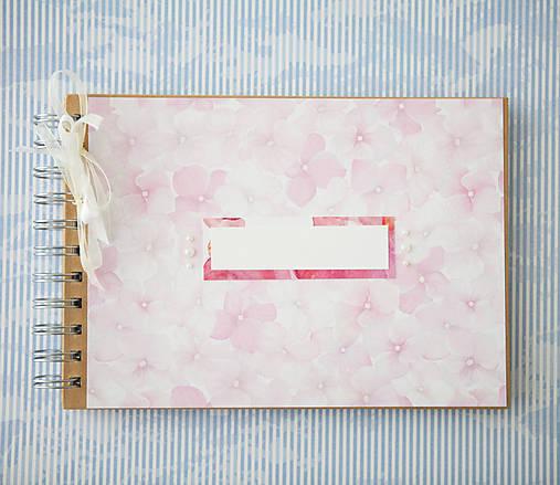 Scrapbook album / kniha hostí Hortenzie