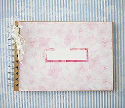 Papiernictvo - Scrapbook album / kniha hostí Hortenzie - 8101293_