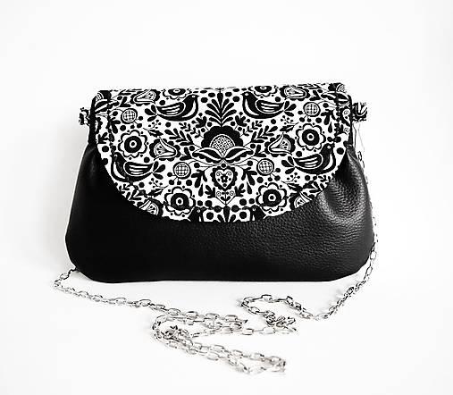 Folk- čierna kabelka s retiazkou   DARTASKA - SAShE.sk - Handmade ... 5fd37acfeac
