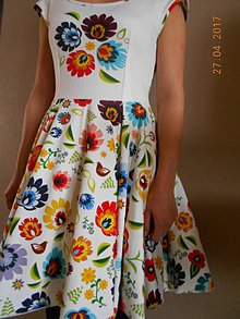 Šaty - Floral FOLK - šaty, ako maľované... - 8101950_