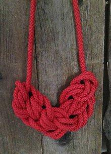 Náhrdelníky - Červený náhrdelník - 8101243_