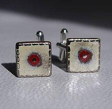 Šperky - Keramické manžetové gombíky s platinou - 8102705_