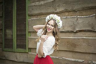 Ozdoby do vlasov - Svadobná kvetinová parta - 8103273_
