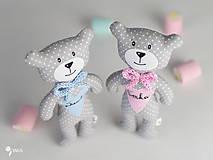 Hračky - macko s menom pre dievčatko a chlapčeka - 8100634_