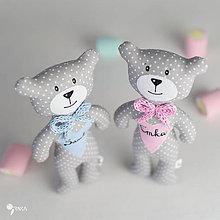 Hračky - macko s menom pre dievčatko a chlapčeka - 8100635_