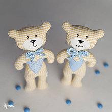 Hračky - macko s modrým srdiečkom - 8102322_