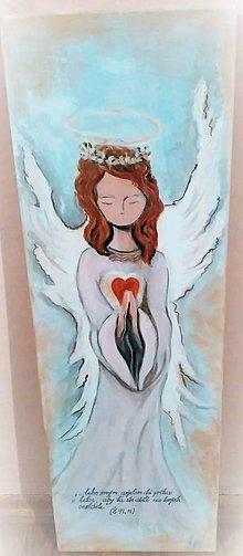 Obrazy - Anjel strážny - maľba - 8100258_