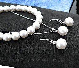 Sady šperkov - Swarovski perly v striebre - 8101252_