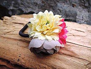 Ozdoby do vlasov - Gumička ružovo-fialová - 8101660_