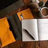 Na tablet - Kožený obal na tablet, diár a vizitky - 8103032_