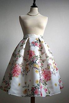 Sukne - slávnostná sukňa s veľkými kvetmi - 8103221_