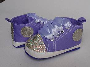 Topánočky - Capačky vykladané kryštálmi - 8102114_