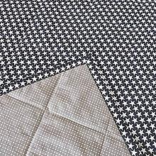 Úžitkový textil - Hviezdny prehoz tmavo modrý a vankúš - 8100206_