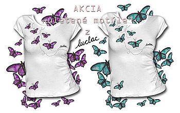 Tričká - Akciové tričko s krátkym rukávom - Uletené motýle - 8101430_