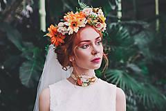 """Ozdoby do vlasov - Výpredaj z 55 eur Kvetinový venček """"vôňa slnečných dní"""" - 8100510_"""