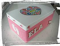Krabičky - Krabica spomienok ružová - 8101843_