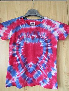Tričká - Srdiečková batika - 8100607_