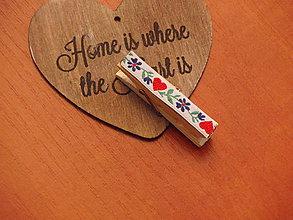 Darčeky pre svadobčanov - Folklórne štipce - menovky, na fotky - 8100273_