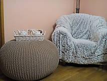 Hnedý puf- 100% bavlna