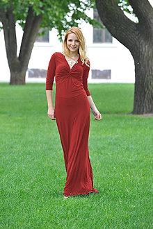 Šaty - Dlhé šaty Anett Bohyňa - červené či iné farby - 8100219_