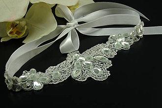 Ozdoby do vlasov - Great Gatsby Bride ... čelenka - 8105006_