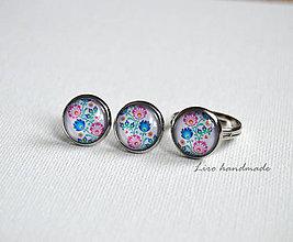 Sady šperkov - Folk sada ( náušnice 12mm + prsteň 12mm ) - 8105197_