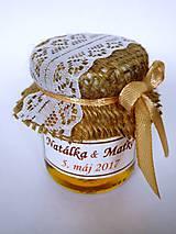 Darčeky pre svadobčanov - Čipkové svadobné medíky - 8103913_