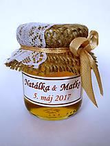 Darčeky pre svadobčanov - Čipkové svadobné medíky - 8103914_