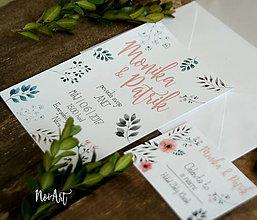 Papiernictvo - Svadobné oznámenie 17 - 8105707_