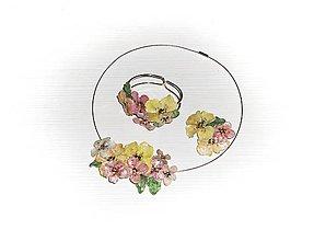 Sady šperkov - smotanové pokušenie - náhrdelník a náramok - 8104353_
