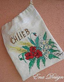 Úžitkový textil - Vrecko na chlieb - makovičky - 8103434_