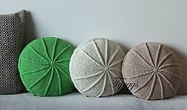 Úžitkový textil - Zelený vankúš - 8104857_