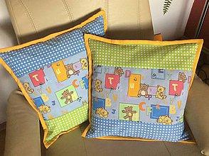 Úžitkový textil - vankúšik detský farebný - 8105374_
