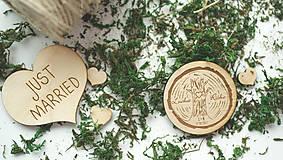 Drevená magnetka pre svadobčanov, 5 cm