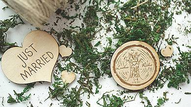 Darčeky pre svadobčanov - Drevená magnetka pre svadobčanov, 5 cm - 8105048_