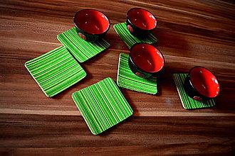 Pomôcky - Zelené podšálky - 8105135_