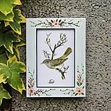 - Maľovaný rámček - Jabloňový sad (10x15 cm) - 8104818_