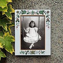 Rámiky - Maľovaný rámček - Záhradka - 8105580_