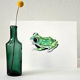 Kresby - Žabka s bodkami - farebná - 8105661_