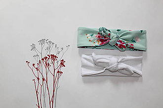 Ozdoby do vlasov - Set 2 čeleniek Aquarel Flower - 8104399_