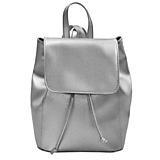 Moderný kožený ruksak v striebornej farbe