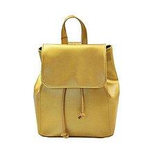 Batohy - Moderný kožený ruksak v zlatej farbe - 8106693_