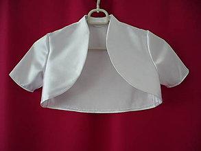 Detské oblečenie - Detské saténové bolerko - krátky rukáv - 8105182_