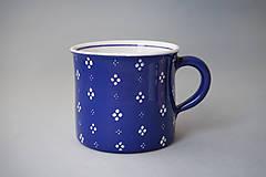 Nádoby - Kafáč 4puntík 10 modrý, cca 0,5 l - 8106632_