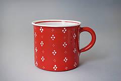 Nádoby - Kafáč 4puntík 10 červený cca 0,5 l - 8106636_