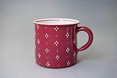 Nádoby - Kafáč 10 cm 4puntík - bordó (vínový) cca 0,5 l - 8106648_