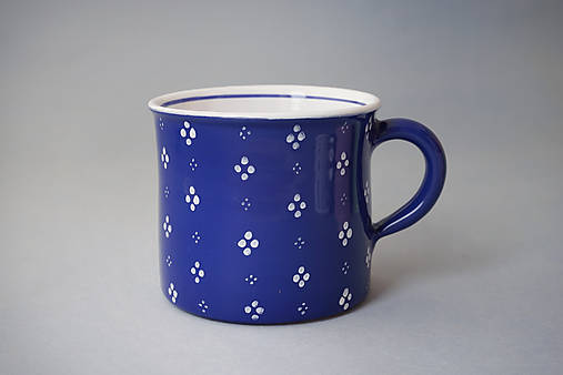Kafáč 4puntík 10 modrý, cca 0,5 l