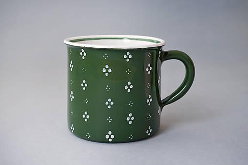Kafáč 10 cm 4puntík - zelený, cca 0,5 l