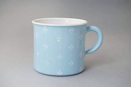 Kafáč 10 cm 4puntík - světle modrý, cca 0,5 l